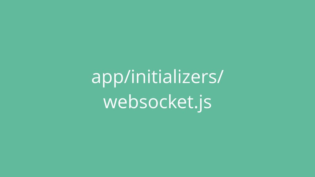 app/initializers/ websocket.js