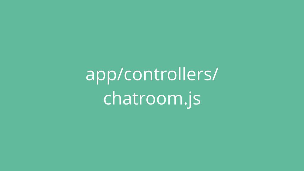 app/controllers/ chatroom.js