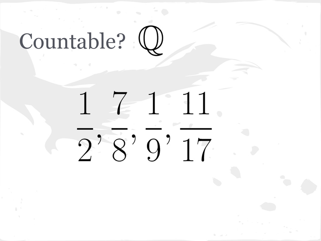 Countable?