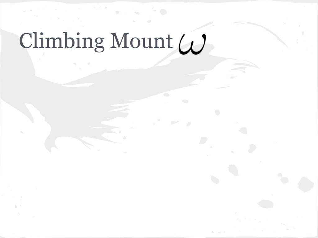 Climbing Mount