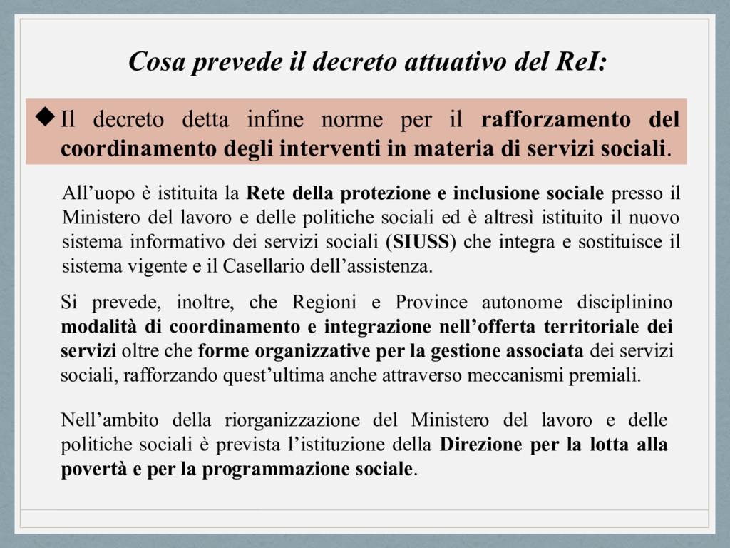 Cosa prevede il decreto attuativo del ReI: Il ...