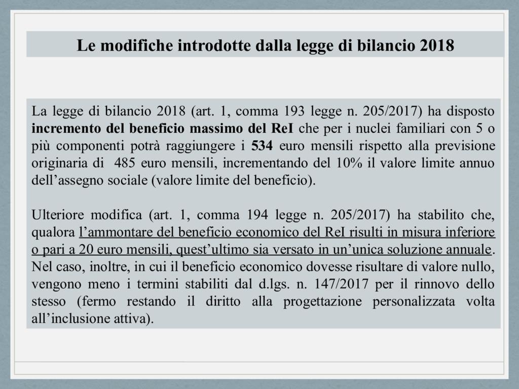 La legge di bilancio 2018 (art. 1, comma 193 le...
