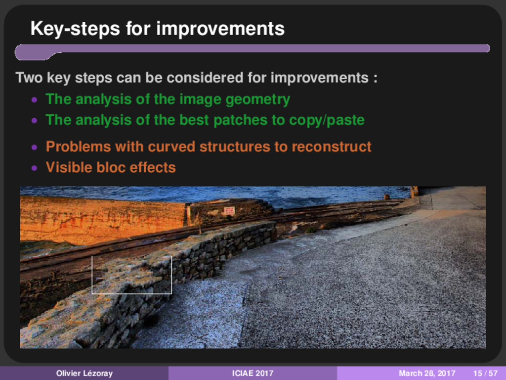 Key-steps for improvements Two key steps can be...