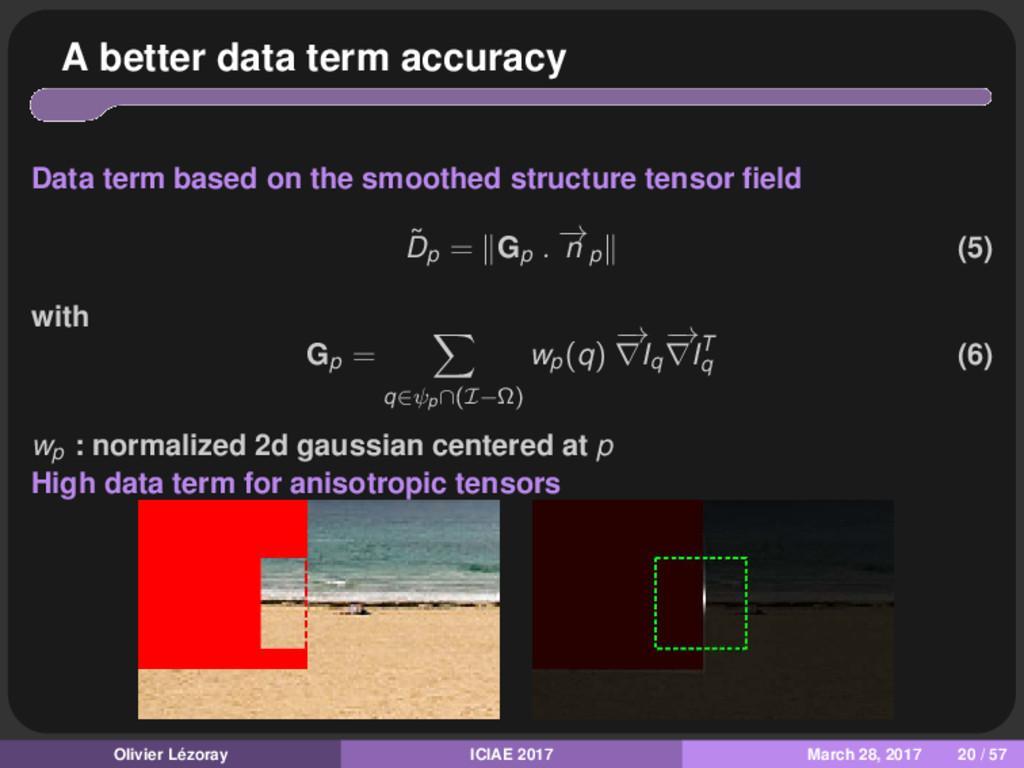 A better data term accuracy Data term based on ...