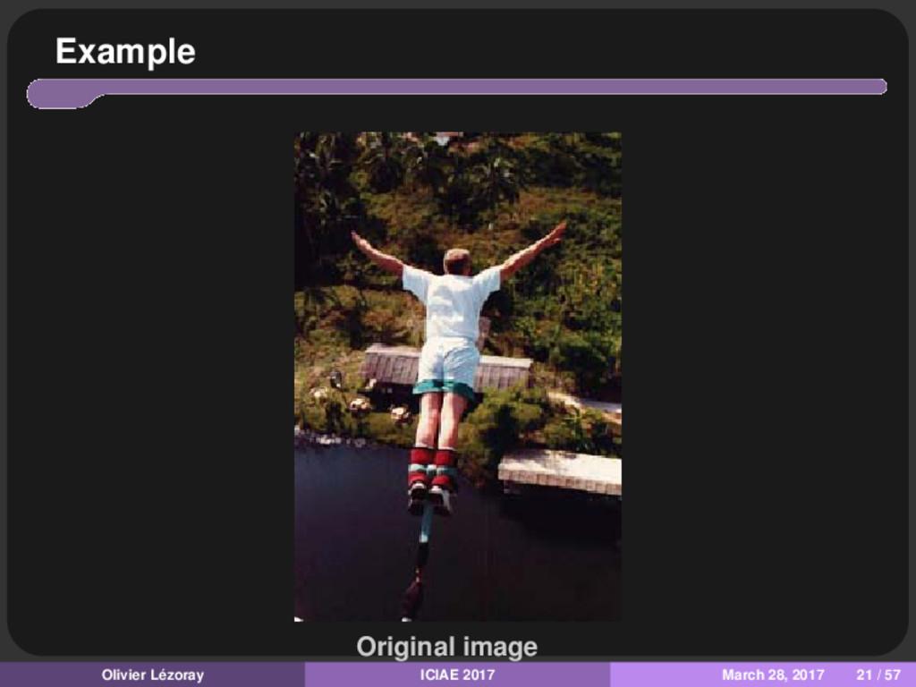 Example Original image Olivier Lézoray ICIAE 20...