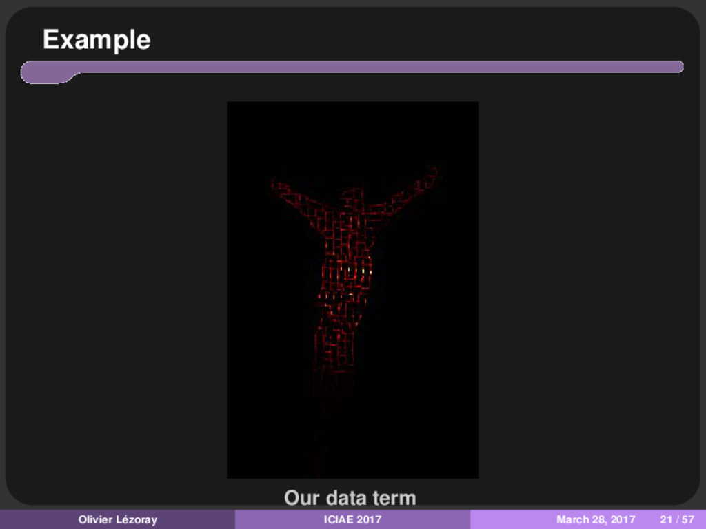 Example Our data term Olivier Lézoray ICIAE 201...