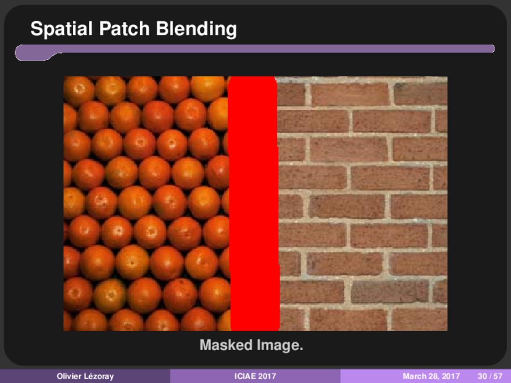 Spatial Patch Blending Masked Image. Olivier Lé...