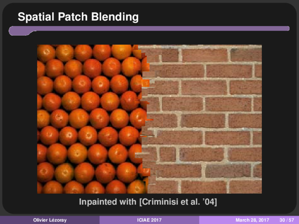 Spatial Patch Blending Inpainted with [Criminis...