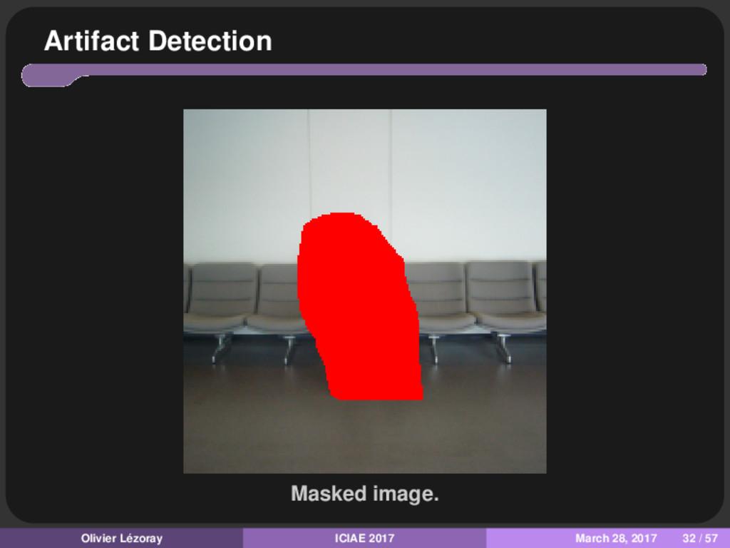 Artifact Detection Masked image. Olivier Lézora...