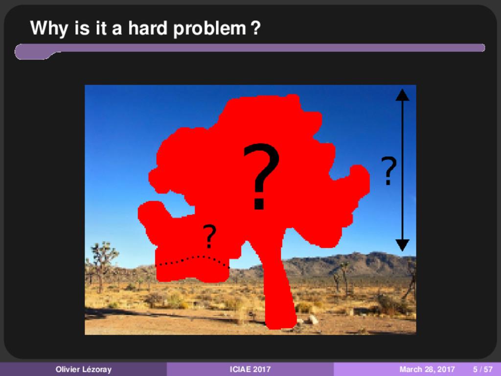 Why is it a hard problem ? Olivier Lézoray ICIA...