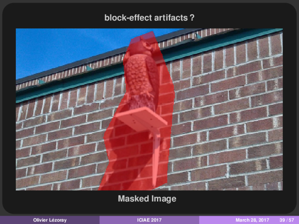 block-effect artifacts ? Masked Image Olivier L...