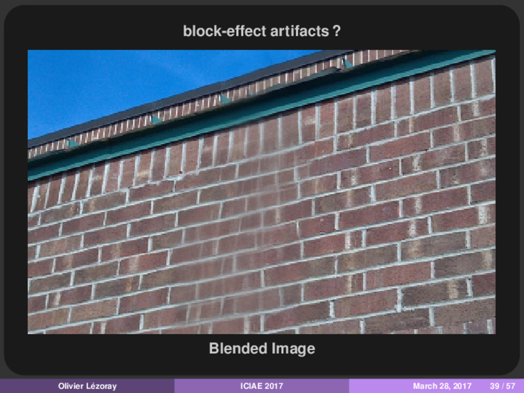 block-effect artifacts ? Blended Image Olivier ...