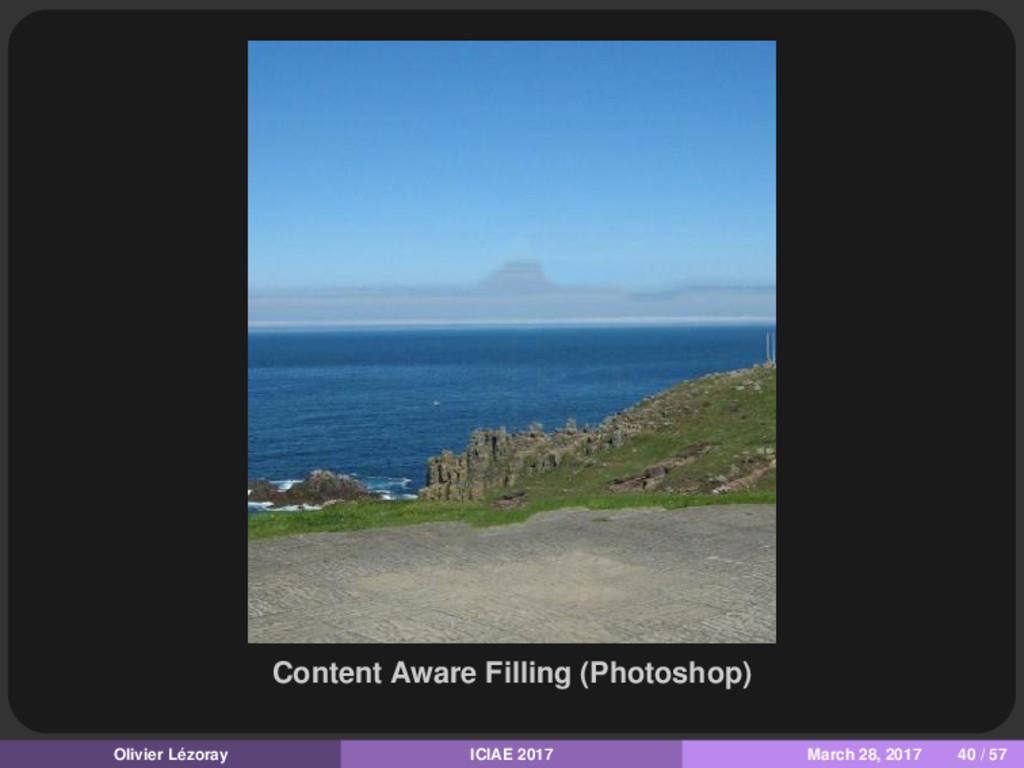 Content Aware Filling (Photoshop) Olivier Lézor...