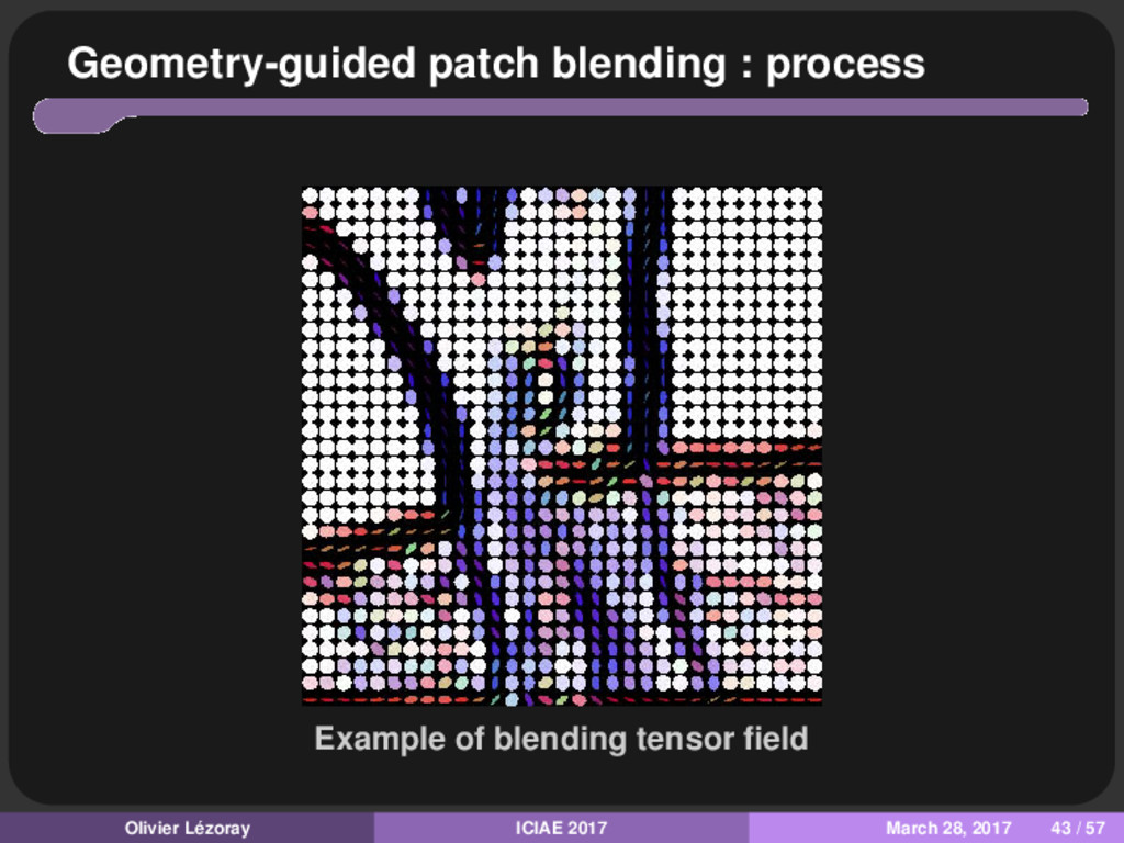 Geometry-guided patch blending : process Exampl...