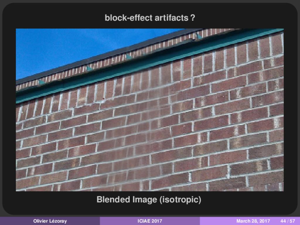 block-effect artifacts ? Blended Image (isotrop...