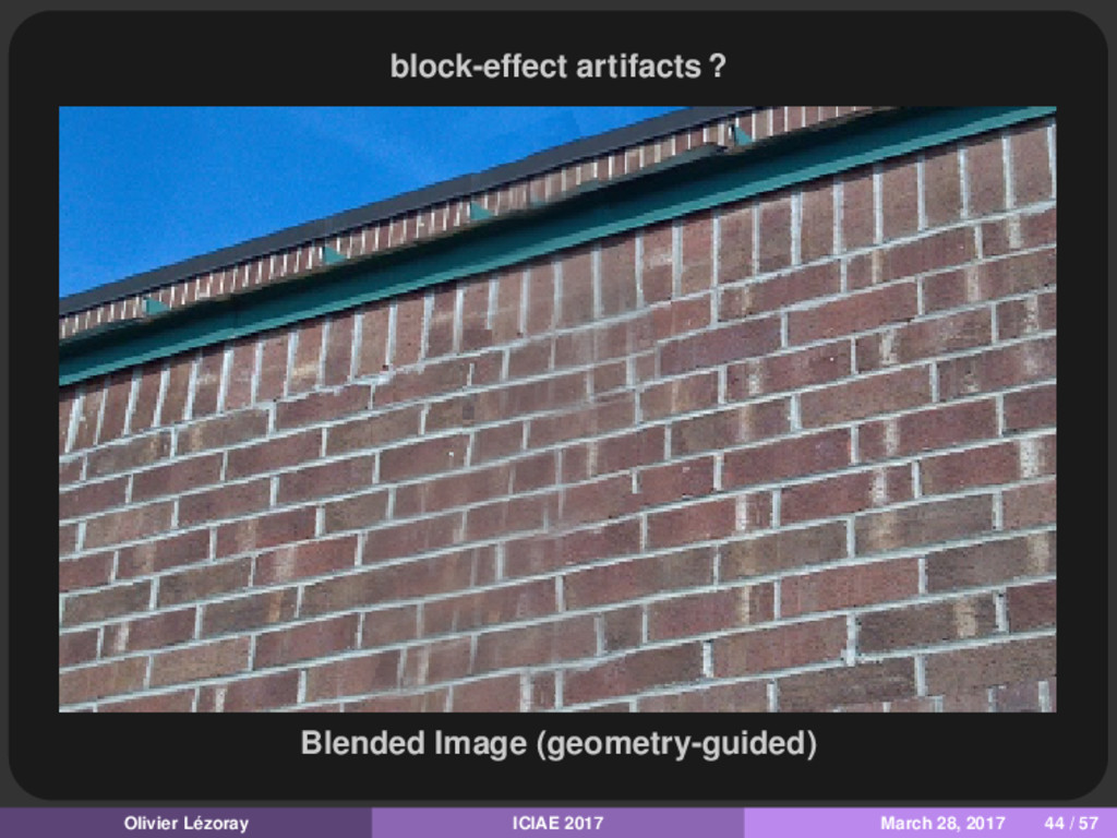 block-effect artifacts ? Blended Image (geometr...