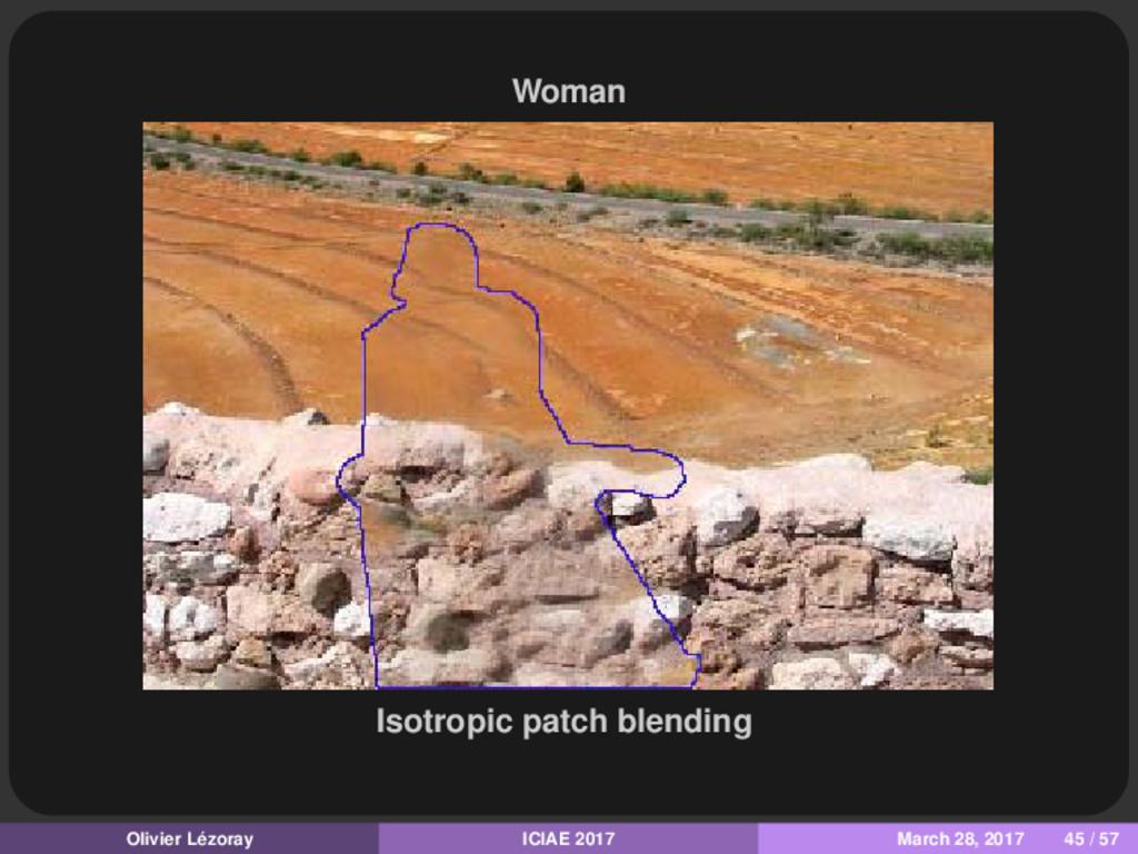 Woman Isotropic patch blending Olivier Lézoray ...