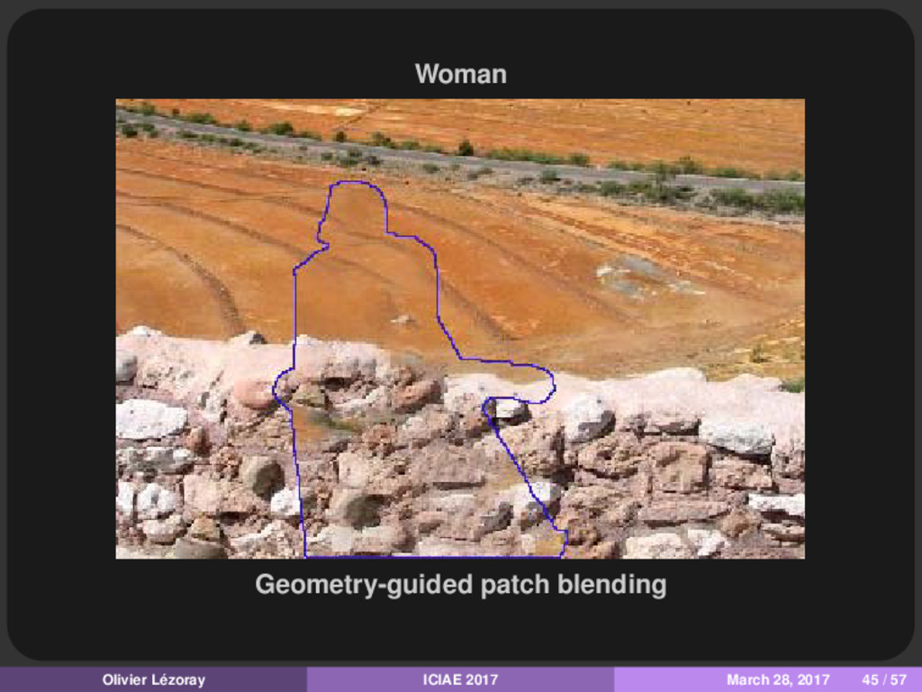 Woman Geometry-guided patch blending Olivier Lé...