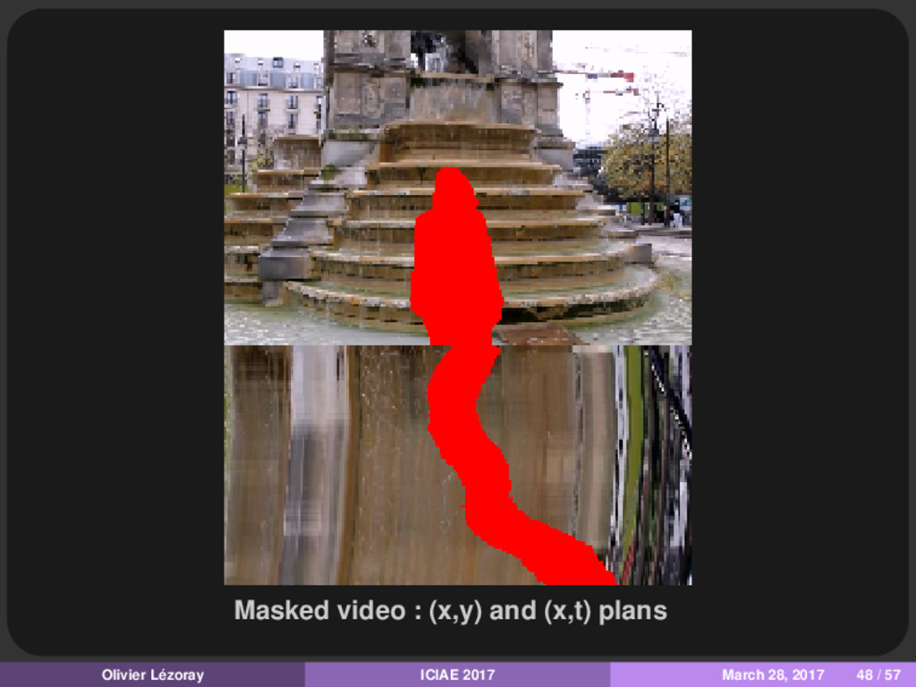 Masked video : (x,y) and (x,t) plans Olivier Lé...