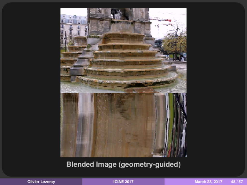Blended Image (geometry-guided) Olivier Lézoray...