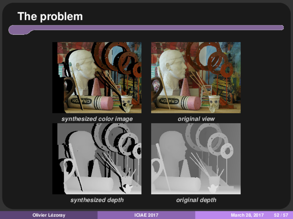 The problem synthesized color image original vi...