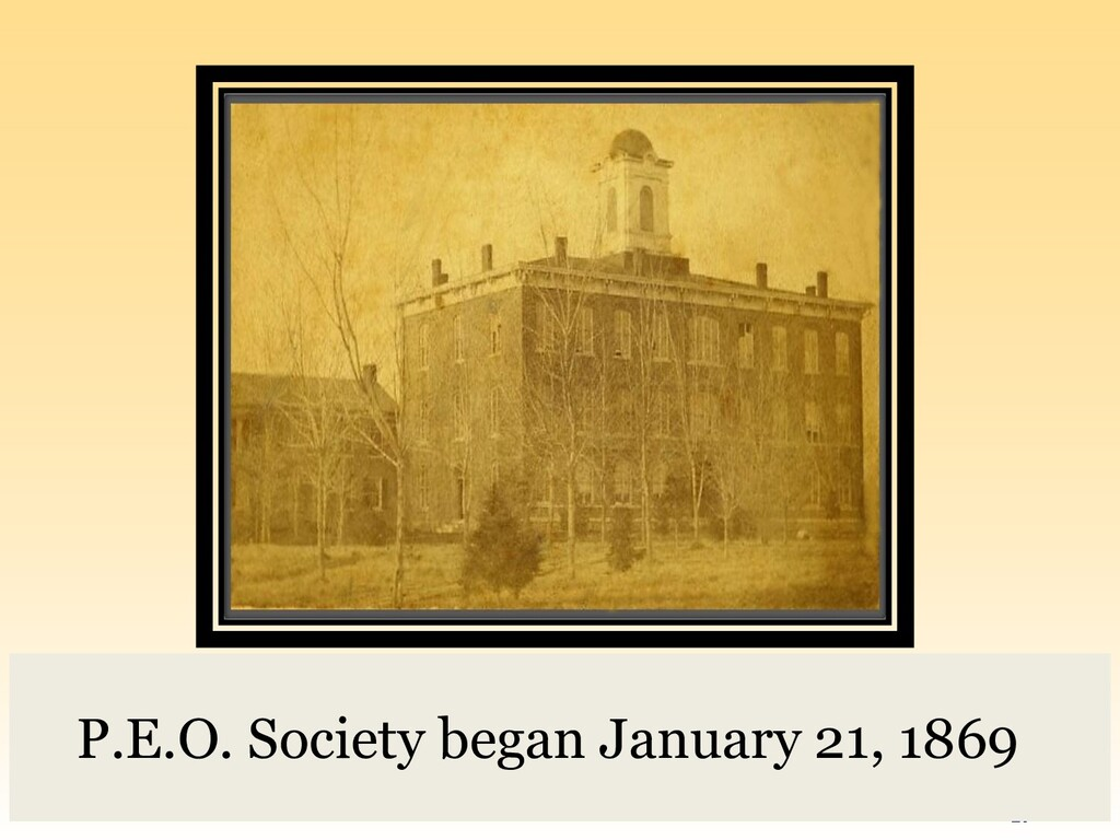 #peoconvention20 17 P.E.O. Society began Januar...