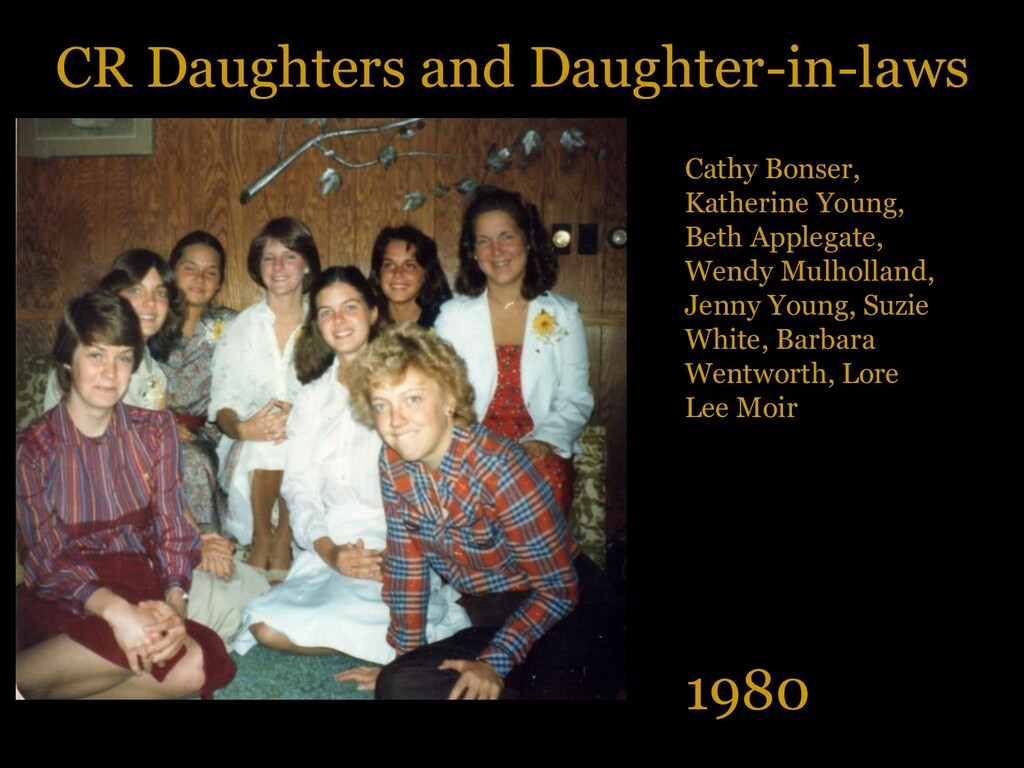 CR Daughters and Daughter-in-laws 1980 Cathy Bo...
