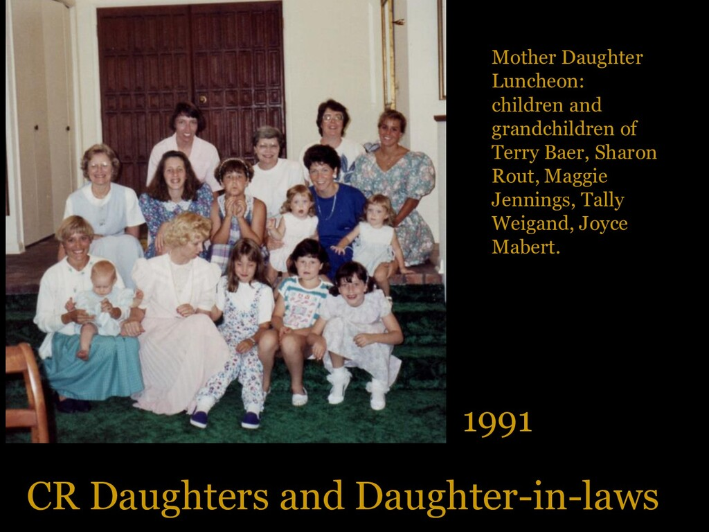 CR Daughters and Daughter-in-laws 1991 Mother D...