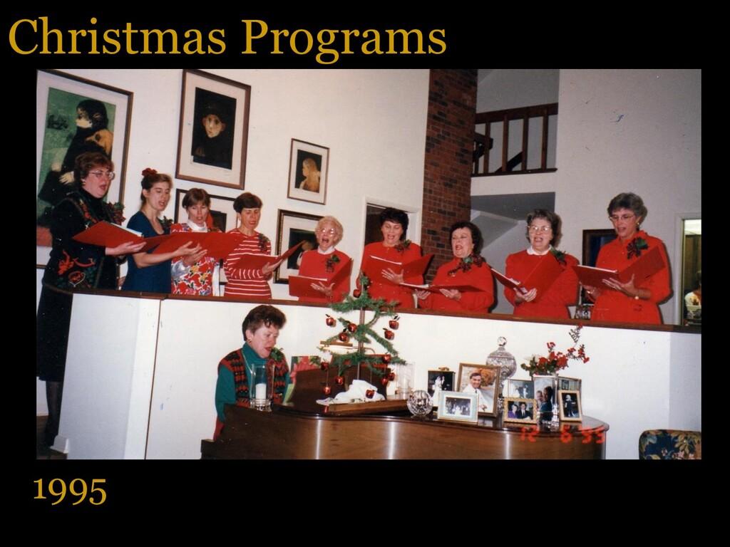Christmas Programs 1995