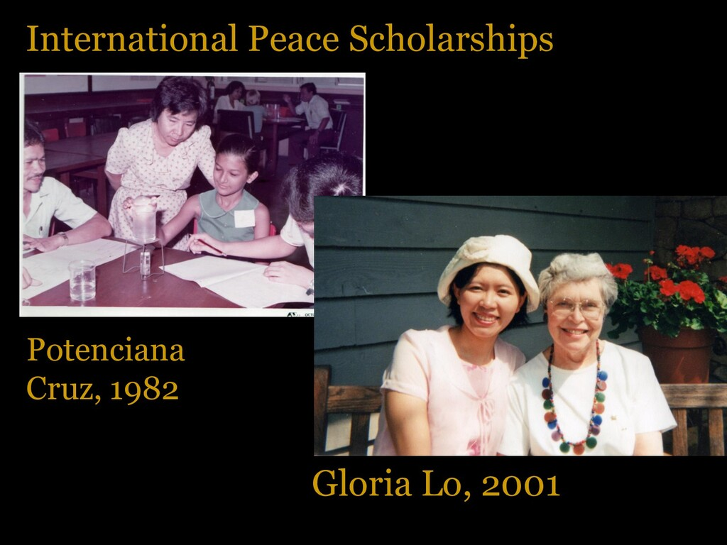 International Peace Scholarships Potenciana Cru...