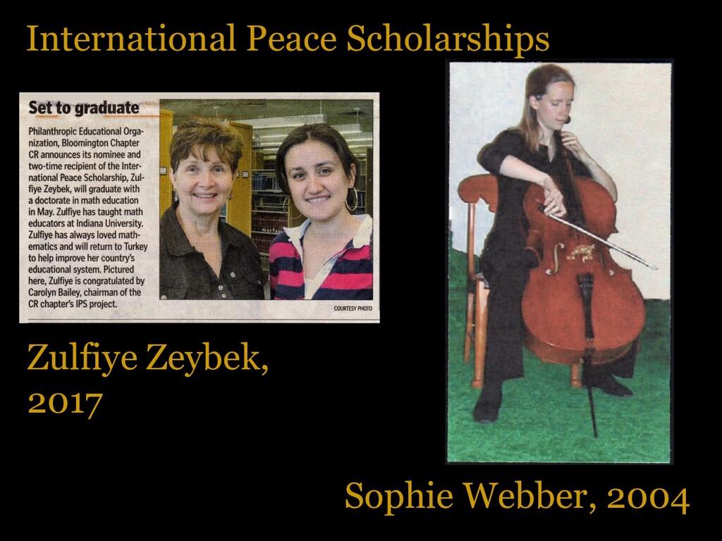 International Peace Scholarships Zulfiye Zeybek...