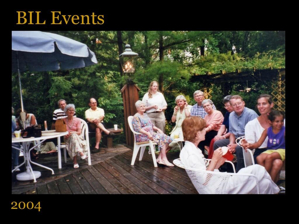 BIL Events 2004