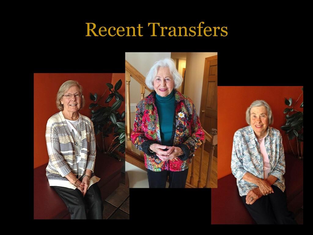 Recent Transfers