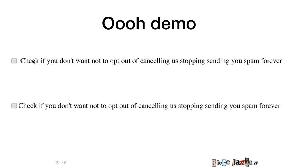 @brucel Oooh demo