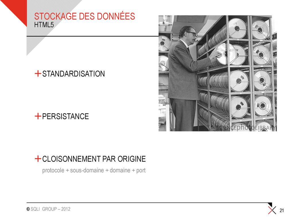 © SQLI GROUP – 2012 STOCKAGE DES DONNÉES +STAND...
