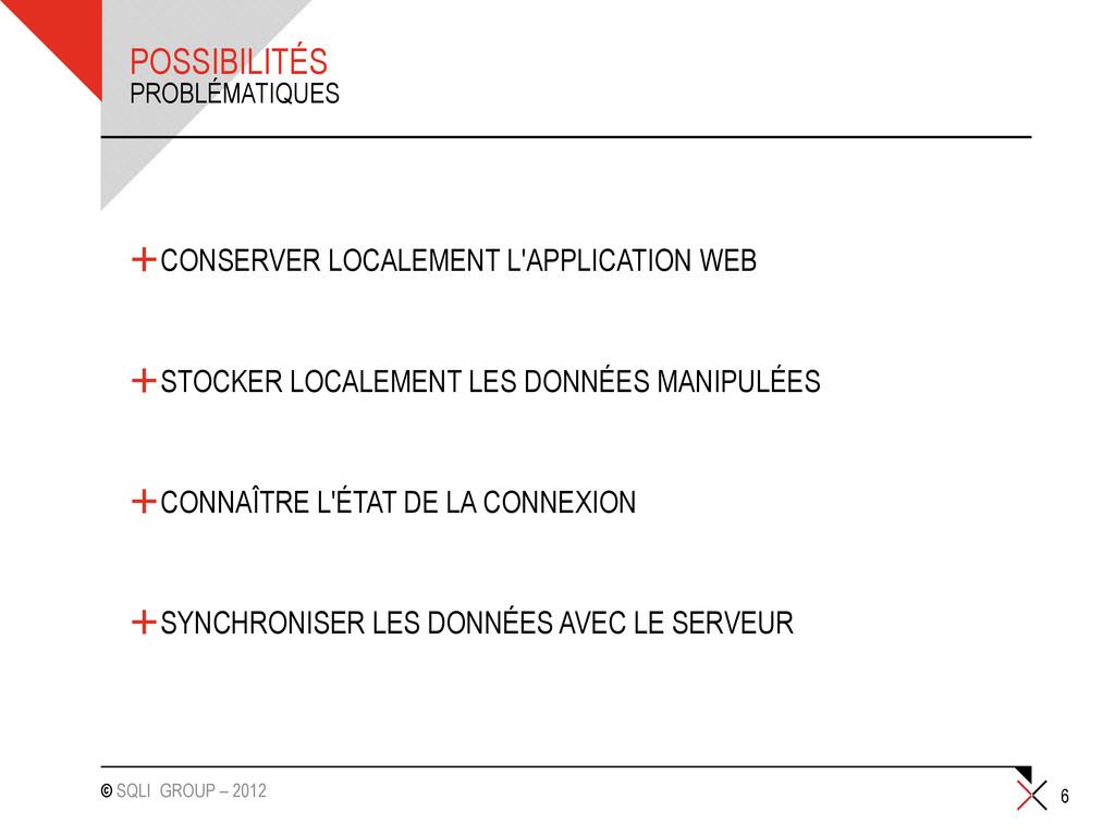 © SQLI GROUP – 2012 POSSIBILITÉS +CONSERVER LOC...