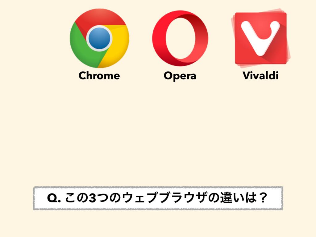 Chrome Opera Vivaldi Q. ͜ͷ3ͭͷΣϒϒϥβͷҧ͍ʁ