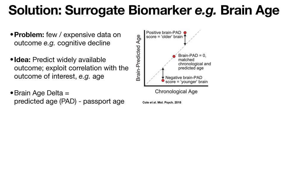 Solution: Surrogate Biomarker e.g. Brain Age Co...