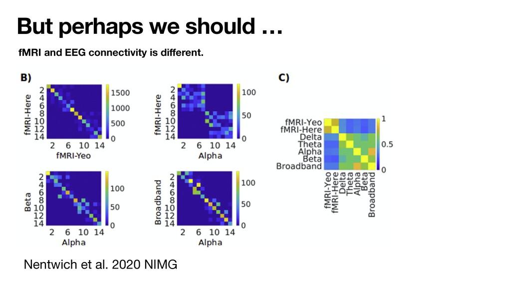 But perhaps we should … Nentwich et al. 2020 NI...