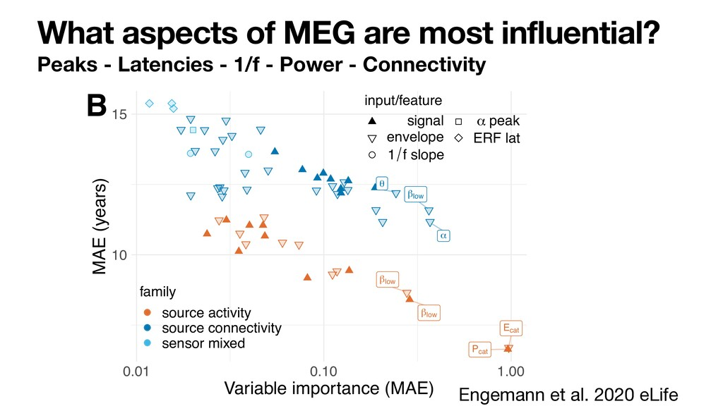 What aspects of MEG are most influential? Peaks...