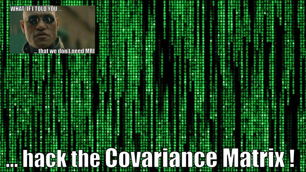 … hack the Covariance Matrix !