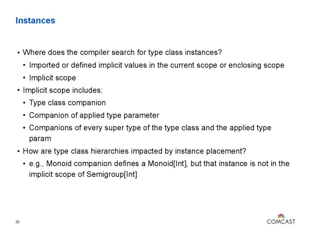 Instances • Where does the compiler search for ...