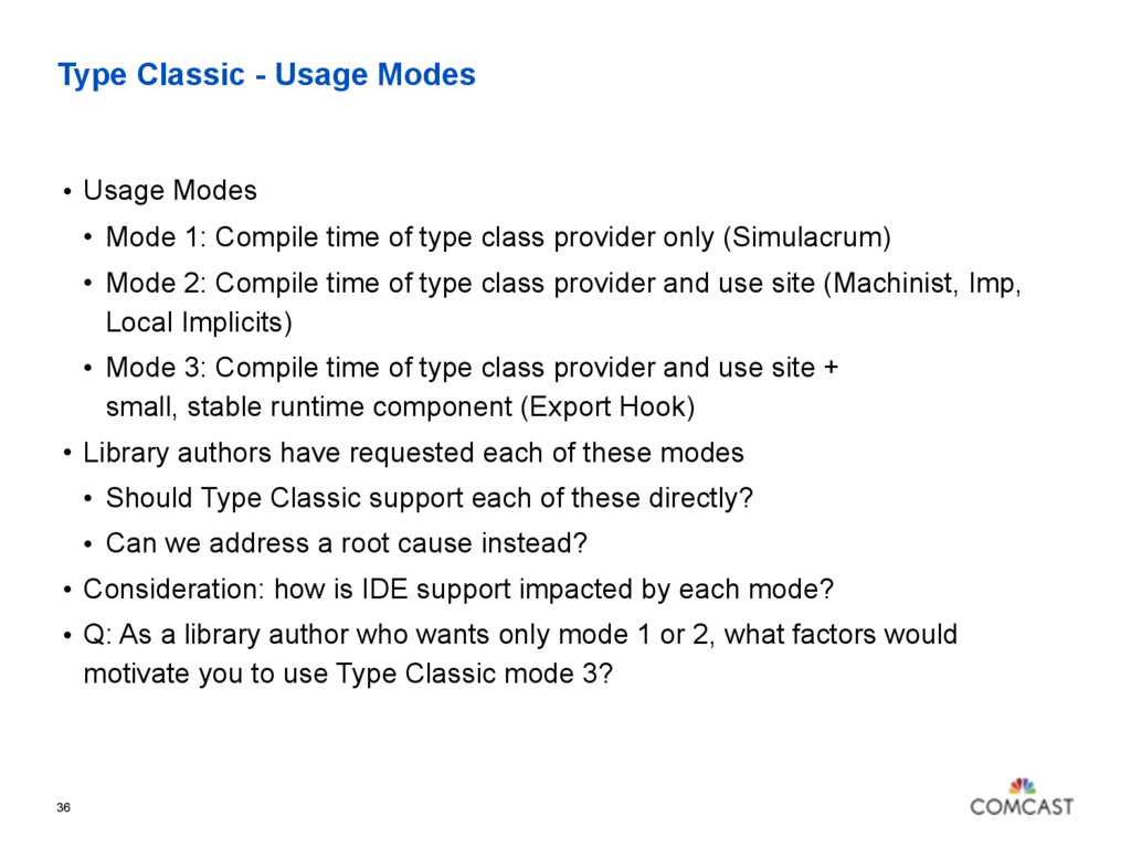Type Classic - Usage Modes • Usage Modes • Mode...