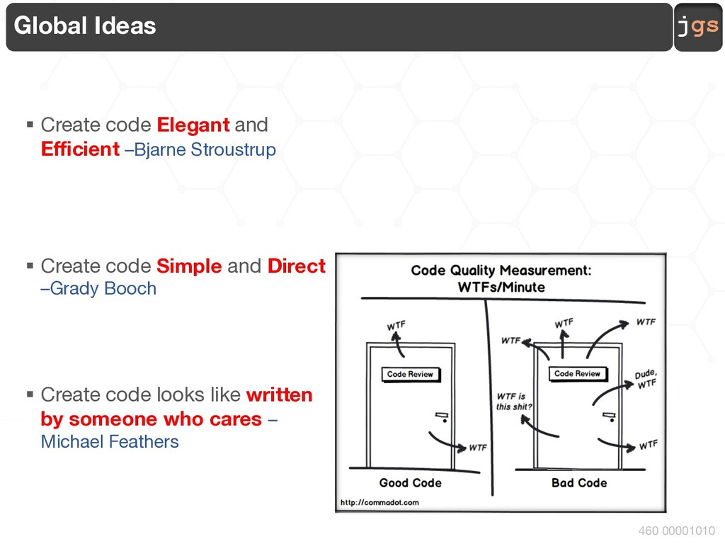 jgs 460 00001010 Global Ideas § Create code Ele...