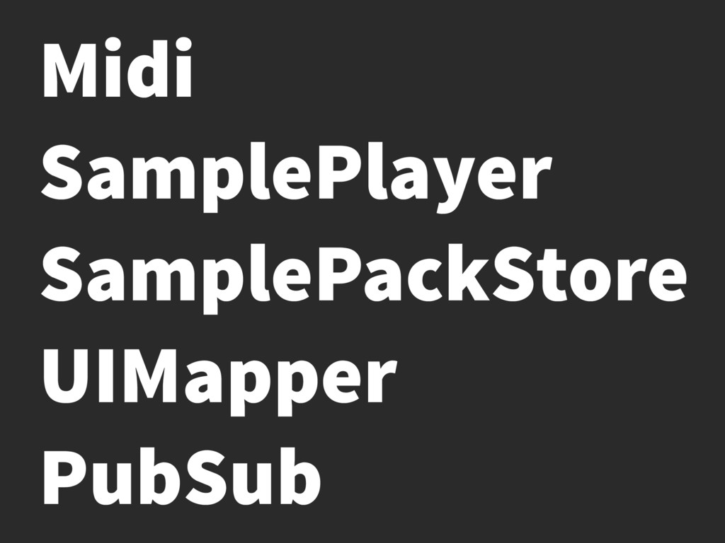 Midi SamplePlayer SamplePackStore UIMapper PubS...