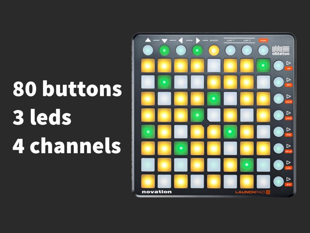 80 buttons 3 leds 4 channels