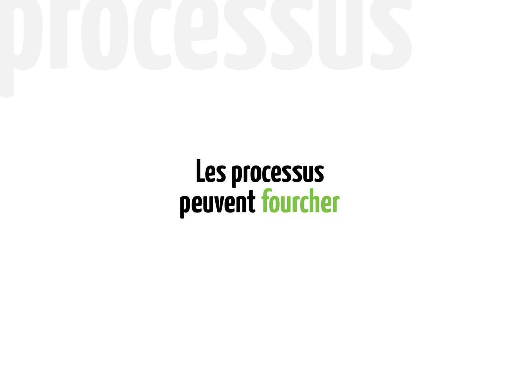 peuvent fourcher Les processus processus
