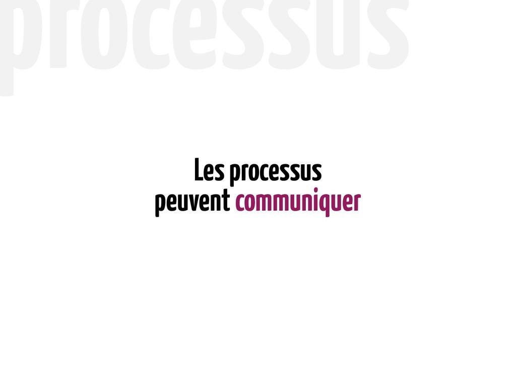 peuvent communiquer Les processus processus