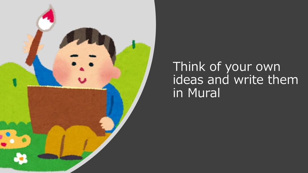 Think of your own ideas and write them in Mural