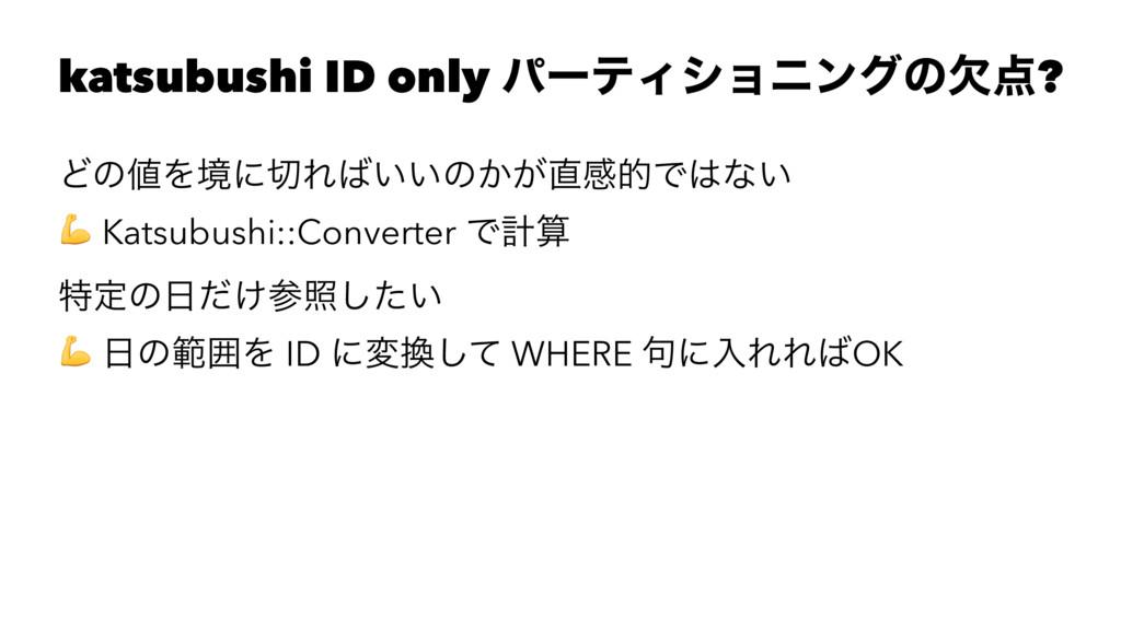 katsubushi ID only ύʔςΟγϣχϯάͷܽ? ͲͷΛڥʹΕ͍͍ͷ͔͕...